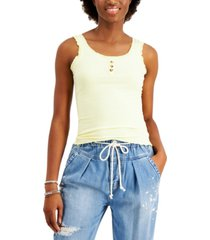 almost famous juniors' ruffled ribbed tank top