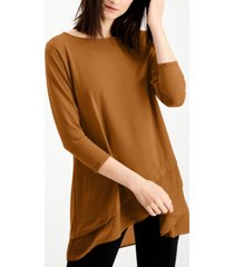 alfani sheer crossover-hem tunic, created for macy's