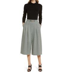 women's eliza j twoffer wide leg jumpsuit, size 14 - black