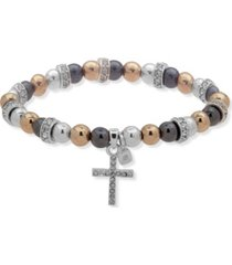 nine west boxed cross stretch bracelet