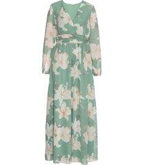 abito lungo a fiori (verde) - bodyflirt