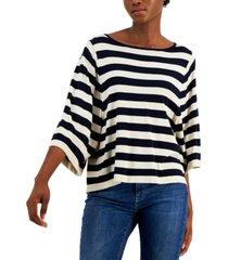 weekend max mara nazione striped wide-sleeve sweater