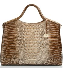 brahmin elaine melbourne embossed leather satchel