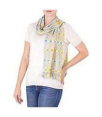 cotton scarf, 'atitlan muse' (guatemala)