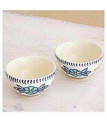 small ceramic bowls, 'bermuda' (pair) (guatemala)