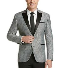 awearness kenneth cole gray paisley slim fit dinner jacket