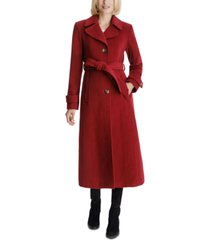 anne klein single-breasted belted maxi coat, created for macy's