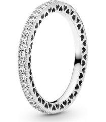 anel corações de pandora