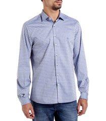 camisa dudalina manga longa fio tinto maquinetada masculina (xadrez, 6)