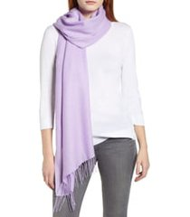 women's nordstrom tissue weight wool & cashmere scarf, size one size - purple