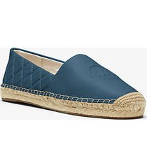 mk espadrilla dylan in pelle trapuntata - chambray scuro - michael kors