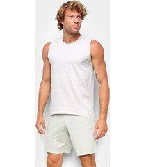 pijama curto hering regata mescla masculino - masculino