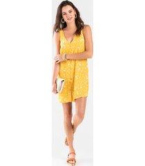 julia button down shift dress - mustard