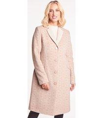 beżowy płaszcz w tłoczony wzór