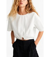 mango ring cotton blouse