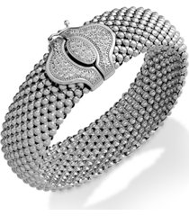 diamond textured bracelet in sterling silver (1/2 ct. t.w.)