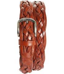 men's brunello cucinelli braided leather belt