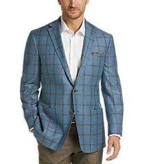 joseph abboud limited edition aqua windowpane modern fit sport coat