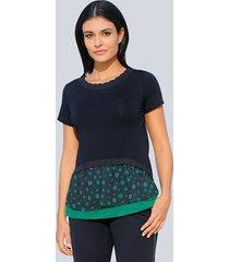 shirt alba moda marine::groen