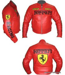 ferrari biker jacket red handmade made to order pure leather safety pads xs 6xl