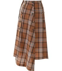 a.w.a.k.e. mode checkered panel skirt