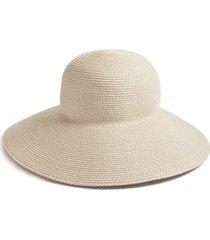 eric javits 'hampton' straw sun hat in cream at nordstrom