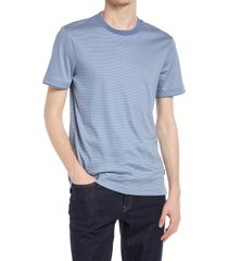 men's hugo tessler 158 slim fit ringer t-shirt, size xx-large - blue