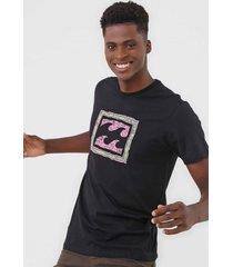camiseta billabong crayon wave preta - preto - masculino - dafiti