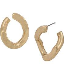 women's allsaints chain link hoop earrings