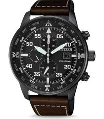 relógio citizen eco-drive aviator masculino