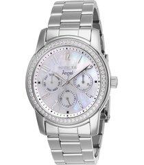 reloj invicta acero modelo 170hn para dama, colección angel