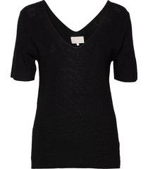 bex knit tee t-shirts & tops knitted t-shirts/tops svart minus