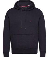 basic flag hoody hoodie trui blauw tommy hilfiger