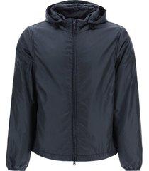 aspesi nylon hooded jacket