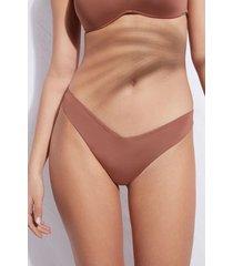 calzedonia high cut brazilian swimsuit bottom indonesia eco woman brown size 2