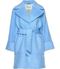 caught you looking coat wollen jas lange jas blauw odd molly