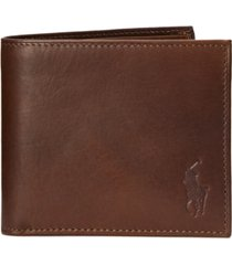 polo ralph lauren men's camo leather billfold wallet