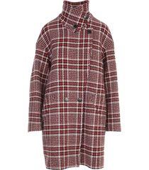 love moschino tartan over coat