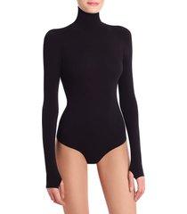 women's commando ballet body turtleneck thong bodysuit