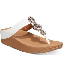 fitflop women's leia leather toe-thongs sandal women's shoes