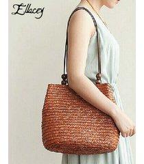 2017 new vintage women handbags fashion beach bags women straw large beach tote