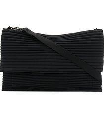 homme plissé issey miyake pleated clutch - black