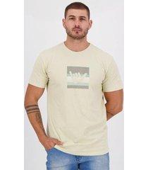 camiseta hang loose silk logostrip bege - masculino