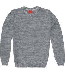 suéter cerrado cuello redondo en tono jaspeado para joven 00586