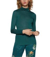 bcbgeneration semi-sheer turtleneck sweater