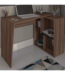 mesa escrivaninha urban 2 prateleiras ipê - artany