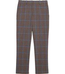theory women's treeca plaid wool-blend pants - khaki multi - size 12