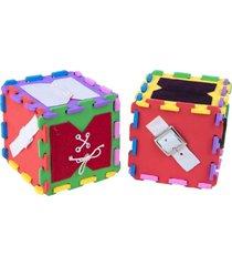 cubo de atividades em eva com 12 peças - carlu