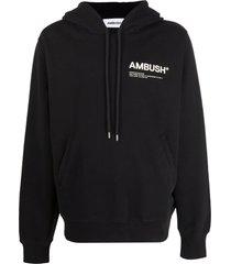 ambush black cotton hoodie