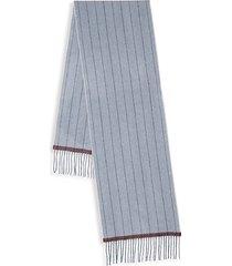 pinstripe cashmere scarf